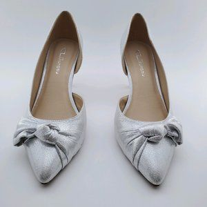 Chinese Laundry | Olga Silver D'Orsay Pointed Shoe